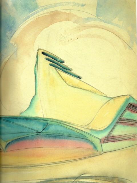 Hans Sharoun, Acquerello fantastico, anni '40
