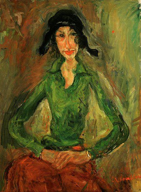 Chaïm Soutine, Donna in verde, 1919 ca.
