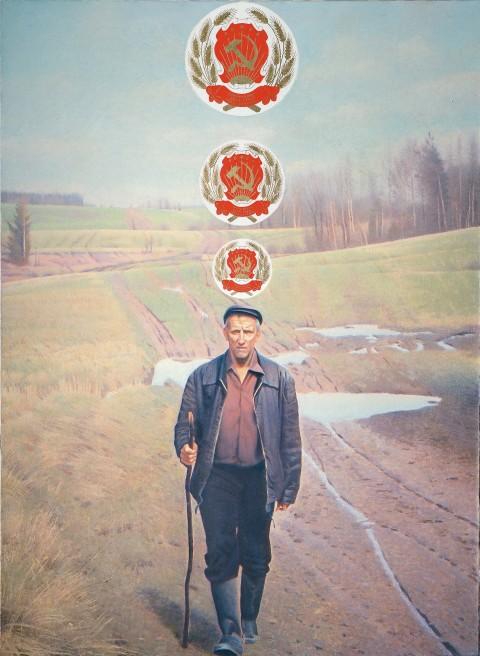 Erik Bulatov, Wanderer, 1990-2003 - Collection E. and V. Semenikhin, Moscow
