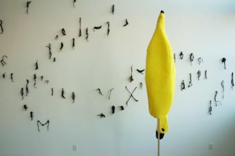 Davide Savorani, from the Can't Get-Away Club, Banana Wall, 2013
