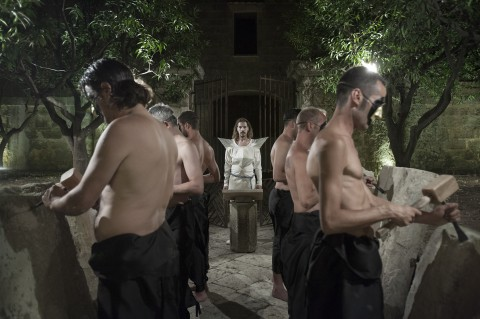 Luigi Presicce, Le Tre Cupole e la Torre delle Lingue, Gagliano del Capo, 27 luglio 2013, performance