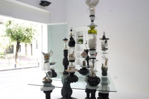 Chiara Bettazzi - Wunderkammer - veduta della mostra presso MOO, Prato 2013 - courtesy LATO