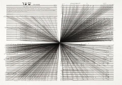 Marco Fusinato, Mass Black Implosion (Shaar, Iannis Xenakis) (2012) Courtesy the artist and Anna Schwartz Gallery, Melbourne & Sydney
