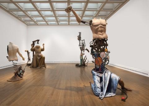 Michael Landy - Saints Alive - veduta della mostra presso la National Gallery, Londra 2013 - © Michael Landy, courtesy of the Thomas Dane Gallery, London / Photo: The National Gallery, London