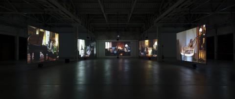 Ragnar Kjartansson - The Visitors - veduta della mostra presso l'Hangar Bicocca, Milano 2013 - photo Agostino Osio - courtesy Fondazione HangarBicocca, Milano
