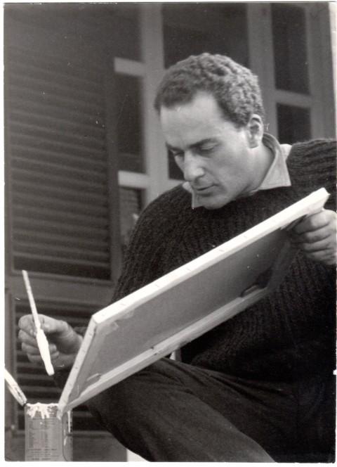 Gastone Novelli che dipinge, 1966 - photo Marina Lund