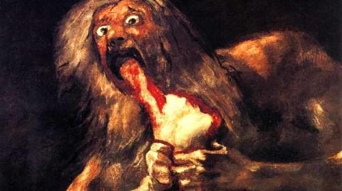 Francisco Goya, Saturno devorando a su hijos, 1819-1823