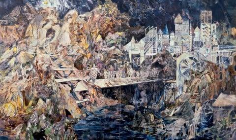 Hernan Bas, Ubu Roi (The War March), 2009 - collezione Iannaccone