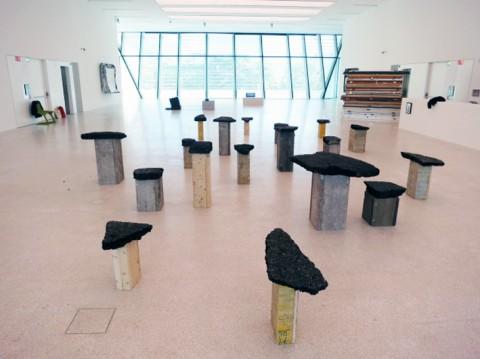 Klara Lidén - Invalidenstraße - veduta della mostra presso Museion, Bolzano 2013