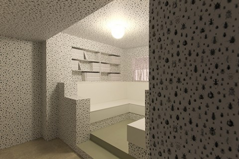 Biennale di Venezia 2013 - Padiglione Slovenia - veduta dell'installazione di Jasmina Cibic presso l'A+A