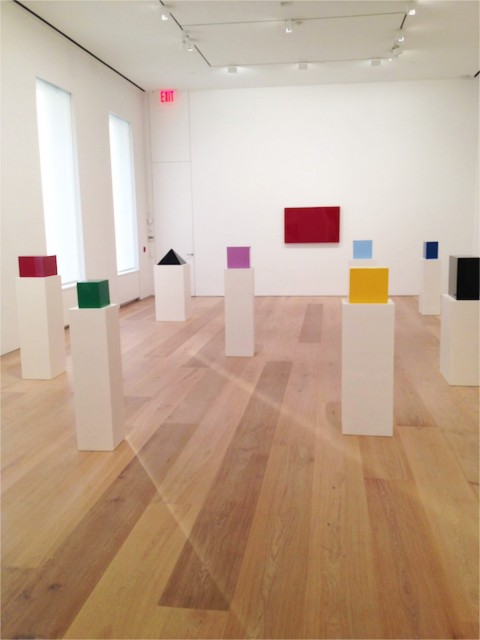 John McCracken - Works from 1963-2011 - veduta della mostra presso la Galleria David Zwirner, New York 2013
