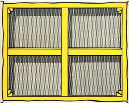 Roy Lichtenstein, Stretcher Frame with Crossbars I, 1967 - collezione Cari Sacks
