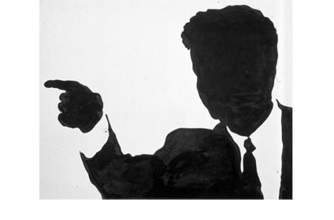 Sergio Lombardo, John F. Kennedy, 1963, smalto su tela, cm 180x230, coll. priv. Parma