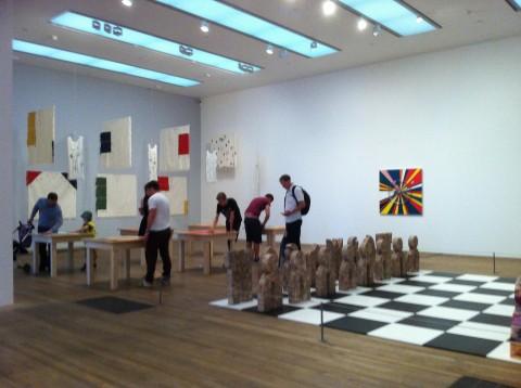 Meshac Gaba - Museum of Contemporary African Art - veduta della mostra presso la Tate Modern, Londra 2013