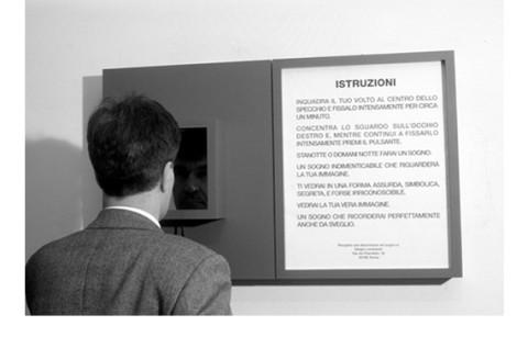 Sergio Lombardo, Specchio Tachistoscopico con stimolazione a sognare, 1979