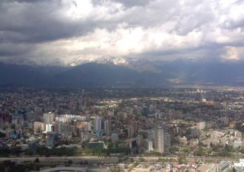 Santiago del Cile vista dal Cerro San Cristobal