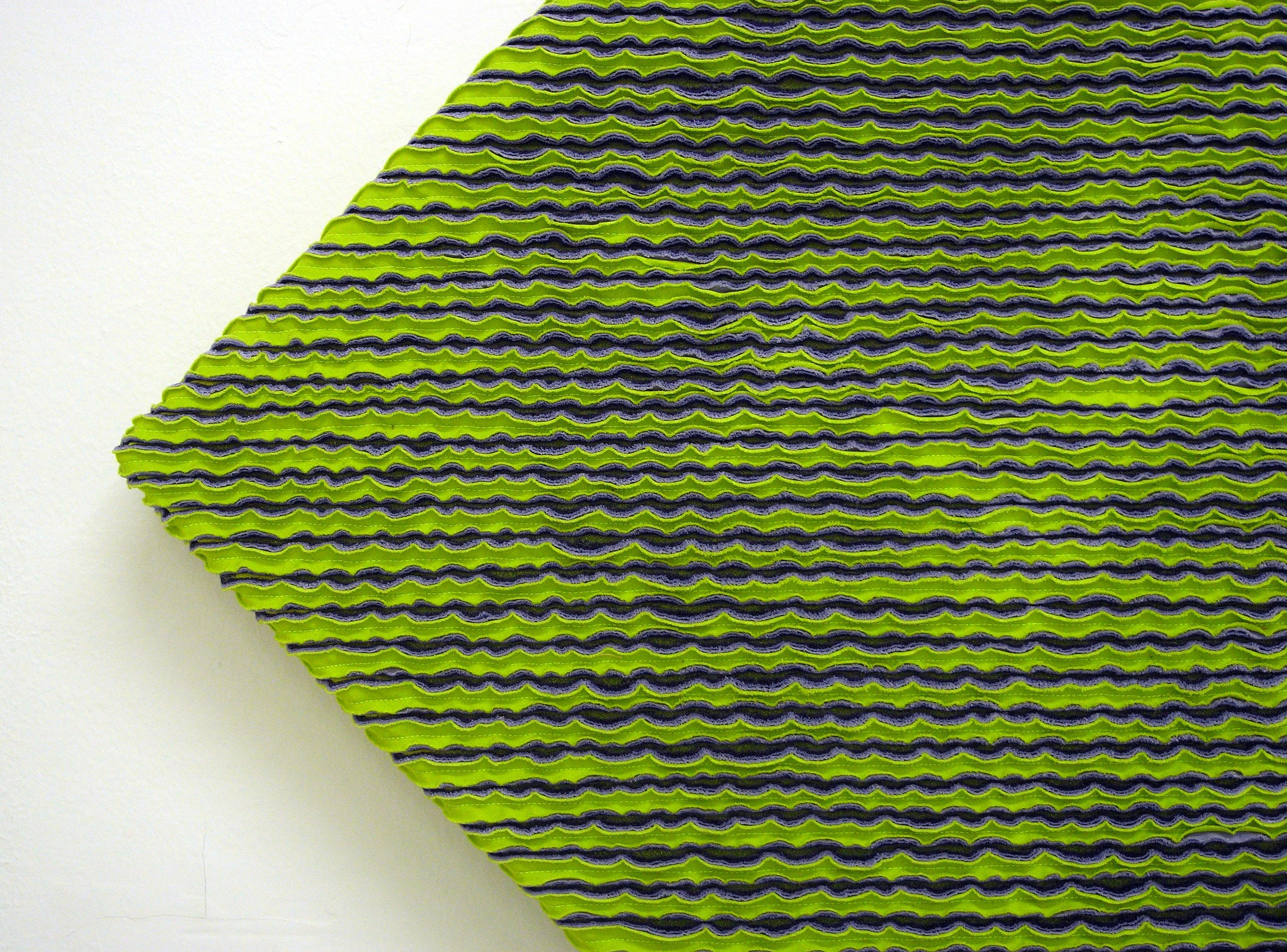 Alice Tomaselli, Tecnica #1: ciniglia (particolare), 2013, tessuto ...