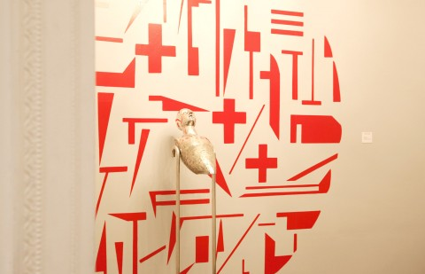Assonanze:Dissonanze, veduta della mostra presso l'Istituto Italiano di Cultura di New York