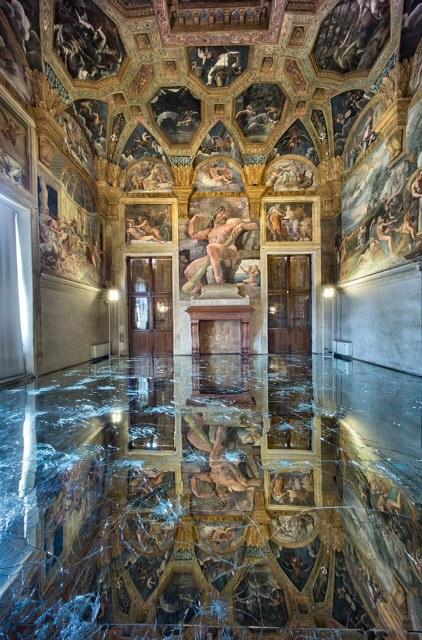 Alfredo Pirri, Passi, installazione, Mantova, Palazzo Te, 2013