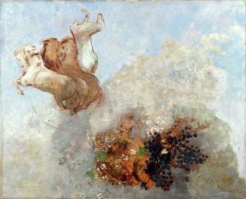 Odilon Redon, Quadriga. Il carro di Apollo, 1909 ca. - Collezione privata