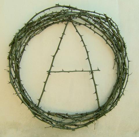 Alfonso Leto, Monogramma, 2007, rovi intrecciati