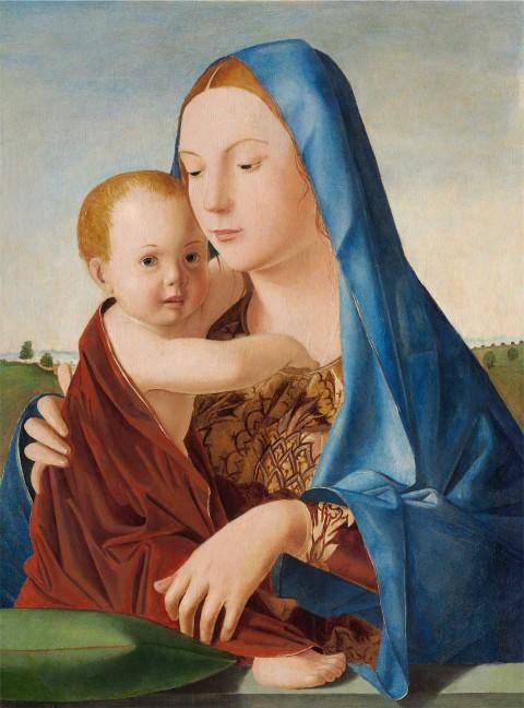 Antonello da Messina - Madonna con il Bambino (Madonna Benson) - Washington, National Gallery of Art