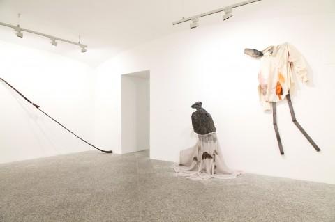 Braccia #1 (Alessandro Biggio e J. Parcker Valentine / Alessandro Biggio e Luca Francesconi) - veduta della mostra presso il MAN, Nuoro 2013