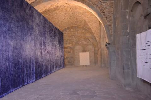 Trame - veduta della mostra presso la Basilica di Santa Maria Maggiore, Bergamo 2013