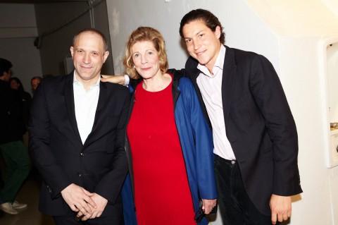 David Rimanelli, Agnes Gund e Vito Schnabel all'opening di DSM-V, New York 2013 - photo Bek Andersen - Courtesy Vito Schnabel
