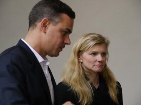 Massimiliano Gioni con Beatrice Trussardi