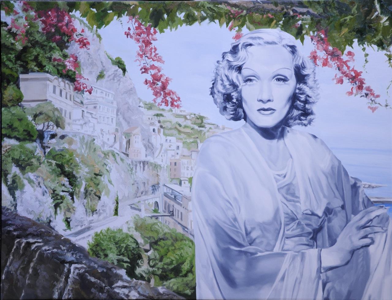 Gian Marco Montesano, Mediterranes Lied, 2011 - olio su tela, 100 x 130