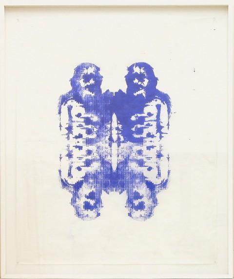 Natasha Rivellini, Rorschach Circus 01, 2012 - inchiostro tipografico su carta velina, 100x80 cm