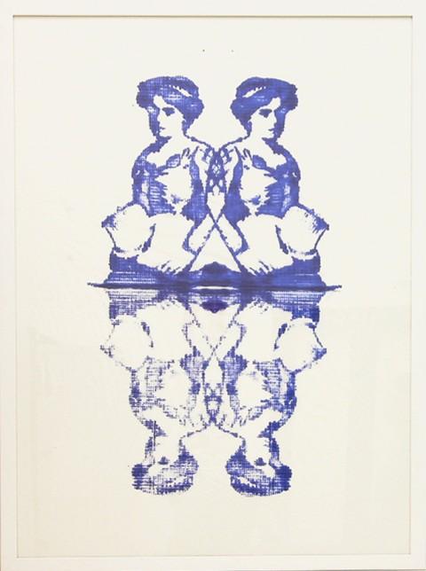 Natasha Rivellini, Rorschach Circus 04, 2012 - inchiostro tipografico su carta velina, 100x70 cm