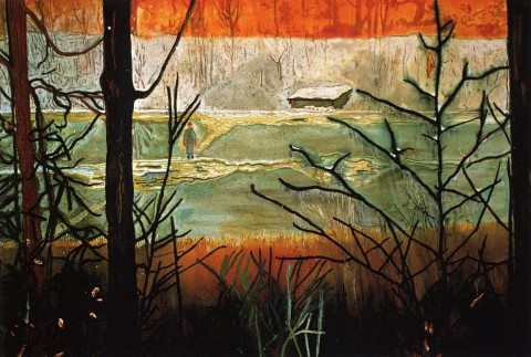 Peter Doig, Almost Grown, 2000, olio su tela, 200 x 295cm