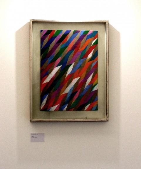 Traguardo II, di Piero Dorazio, olio su tela, cm 70x50, 1967