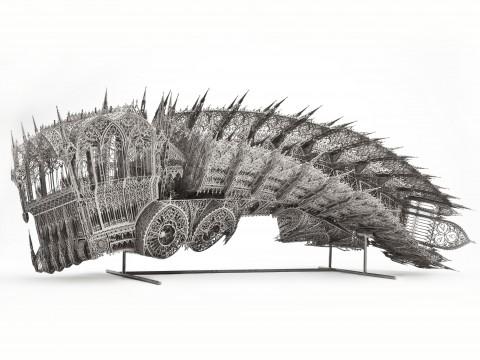 Wim Delvoye - Twisted Dump Truck @ MAD Museum