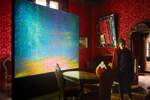 Video Arte (frölicher bietenhader) - veduta della mostra presso Palazzo Castelmur, Stampa 2013 - photo Ralph Feiner