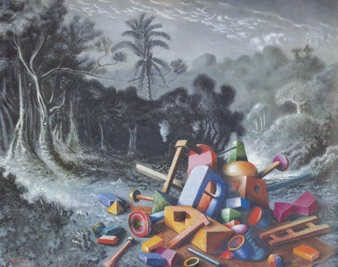 Alberto Savinio, Oggetti nella foresta (1928)