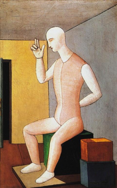 Carlo Carrà, L'idolo ermafrodito (1917)