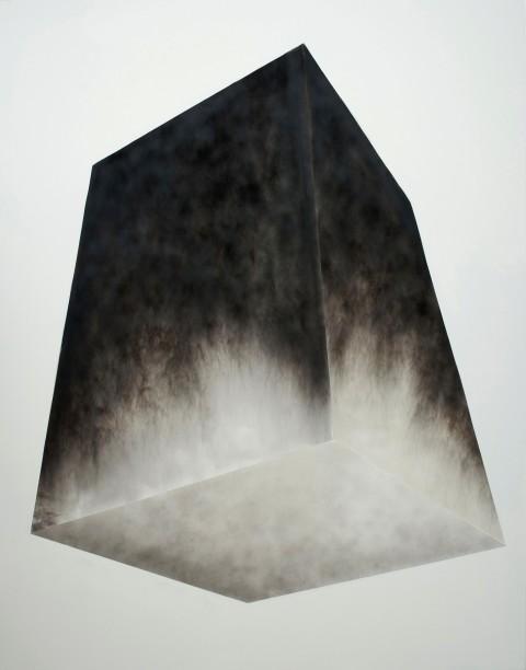 Alessandro Cannistrà, Oggetto di pensiero, 2013, fumo su tela, cm 250x200 - photo Giorgio Benni