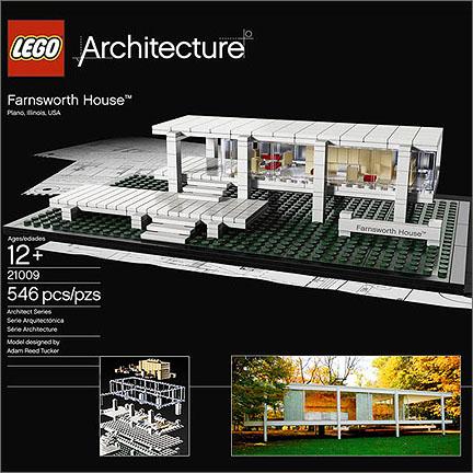 Pubblicità del modello Lego di Casa Farnsworth
