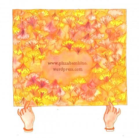 Alice Mandelli, Senza titolo, 2013, pennarello, acquerello, acrilico, smalto per unghie su carta, cm 21x21 ca.