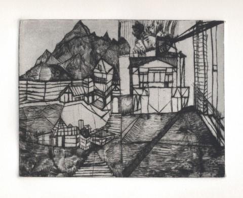 Bianca Bonaschi, Senza titolo, 2012, puntasecca su carta rosaspina, 10 x 15 cm