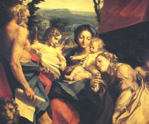 Correggio, Madonna di San Girolamo - Galleria Nazionale di Parma, Palazzo della Pilotta