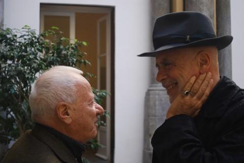 Achille Bonito Oliva e Francesco Clemente - photo Antonio Gerbino