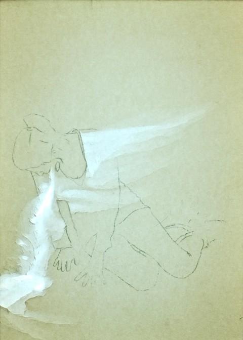 Francesco Crovetto, Con(i)ato d'artista, 2012 - matita e abrasione su carta, lightbox, 21 x 18 cm