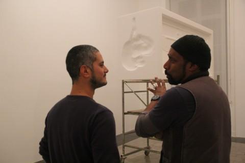 Togli il fermo, American Academy in Rome - allestimento, Giuseppe Lana e Nari Ward