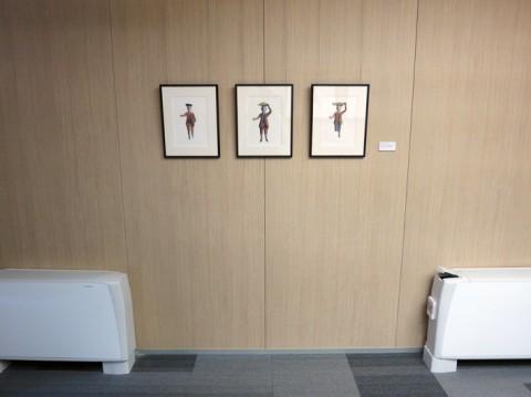 Interiors - veduta della mostra presso la Deutsche Bank, sede via Filippo Turati 25 - Milano 2013