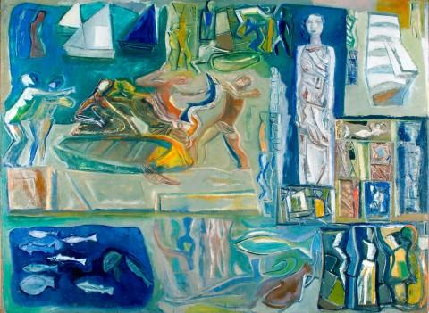 Mario Sironi, La Grande Composizione (Figurazioni allusive alla vita sul mare), 1948