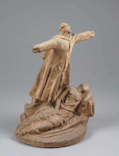 Arturo Martini, Lo spaventapasseri innamorato, 1928-29, terracotta, cm 38x28x20 - Collezione privata